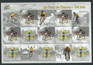 France 2968 2003 Tour de France Lance Armstrong m/s MNH
