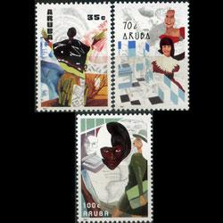 ARUBA 1991 - Scott# 67-9 Working Women Set of 3 NH