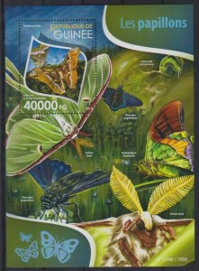Guinea MNH S/S Butterflies Insects Nature 2015