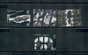 G.B 1976 COMMEMORATIVE SETSOCIAL REFORMERS ISSUE ,USED 121120