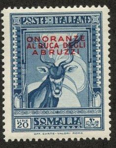 Italian Somaliland, Scott #162, Unused, Hinged