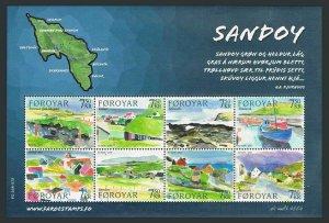 Faroe 477 ah sheet,MNH. Sandoy Island,2006.Paintings.