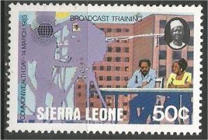 SIERRA LEONE, 1983, MNH 50c, Commonwealth Scott 583