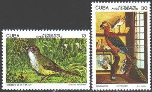Cuba. 1978. 2283-84 from the series. Birds. MNH.