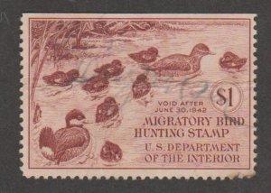U.S. Scott #RW8 Duck Stamp - Used Single