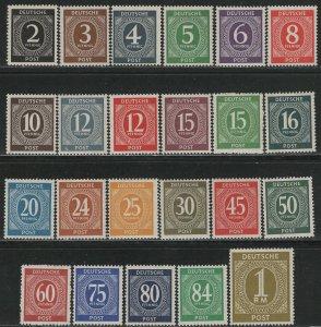 Germany AM Post Scott # 531 - 556, mint nh