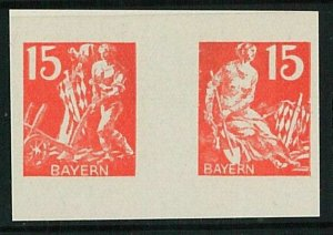 57856 -  GERMANY: BAYERN -  pair of IMPERF  stamps - Gastronomy AGRICOLTURE