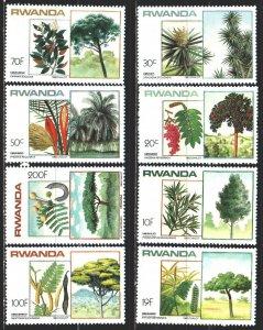 Rwanda. 1984. 2151-58. Trees, flora. MNH.