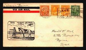 Canada 1930 FFC Calgary to Regina - Z17538