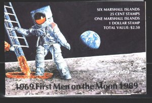 Marshall islands. 1989. book 237-43. Moon landing space. MNH.