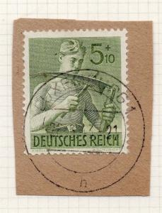 1944-45 GERMANY used in LUXEMBOURG Fine Used 5p. Postmark Piece 241795