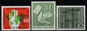 Germany #751-3 F-VF Unused CV $4.85 (X649)
