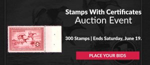 The 8th Stamps With Certificates Auction