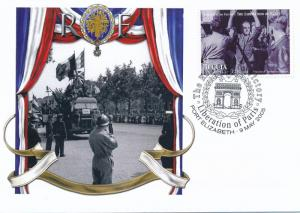 [96868] Bequia 2005 WWII Liberation Paris Special Cachet Cover