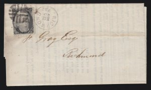US 73 2c Jackson on Circular to/from Richmond, VA w/ Fancy Cancel XF