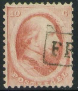 Netherlands Scott 5 nice 1864 Franco bloc cancel  CV$8