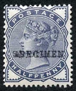 SG187 1/2d Slate-blue Opt Specimen U/M