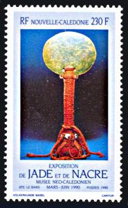 New Caledonia 631, MNH, Jade and Pearl Art Exhibition