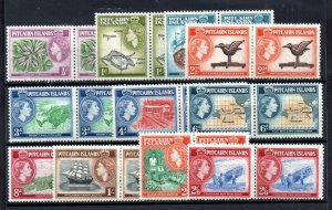 Pitcairn Island QEII 1957 mint LHM set in pairs SG18-28 WS18582