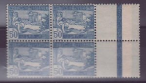 Tunisia n�84 Piper ** Block of 4 Without hinge