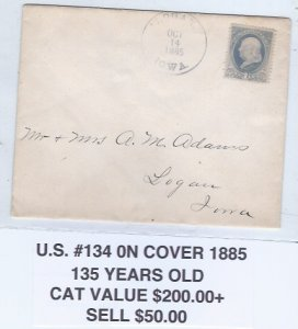 U.S 134 ON COVER  SCV $200.00 STARTS AT10% OF CAT VALUE
