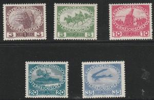 AUSTRIA #B3-7 MINT NEVER HINGED COMPLETE