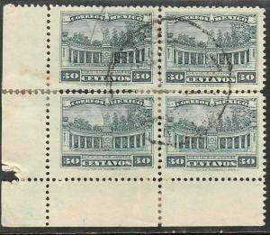 MEXICO 643, 4c Block of Four. USED. F-VF. (625)