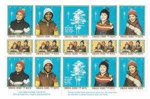 Omaha Home For Boys Nebraska 15 MNH Christmas Poster Stamps Cinderellas Labels