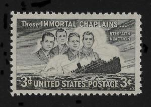 US 1948,Four Chaplains & Sinking Ship,Scott # 956,VF MNH**