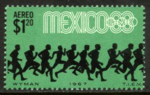 MEXICO C329, $1.20P Runners 3rd Pre-Olympic Set 1967. MNH