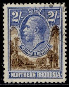 NORTHERN RHODESIA GV SG11, 2s brown & ultramarine, FINE USED. Cat £48.