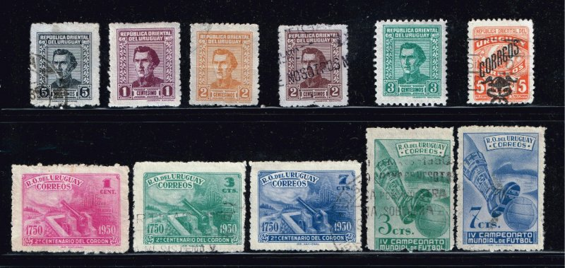 URUGUAY Stamp USED STAMPS COLLECTION LOT #2