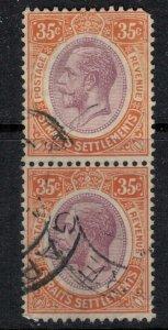 Straits Settlements #196 pair  CV $14.00