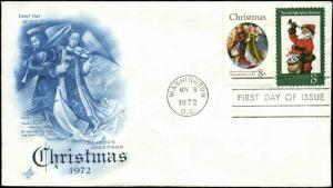 US FDC #1471-#1472 Blue Artcraft Severe #1 Cachet Washington, DC Christmas