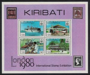 Kiribati Ship Aircraft 'London 1980' International Stamp Exhibition MS SG#MS116