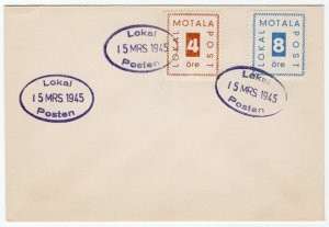 (I.B) Sweden Local Post : Motala 12 Ore (First Day Cover)