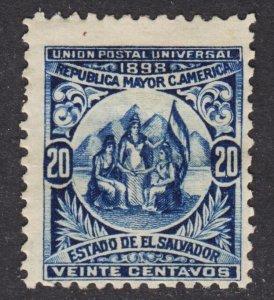 El Salvador Scott 184  wtmk 117 F+ mint OG HHR 1st issue..