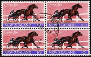 New Zealand. 1970 10c (Block of 4) S.G.913 Fine Used