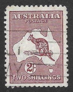Doyle's_Stamps: Australian Used  2/  1945 Scott #206 Kangaroo Issue