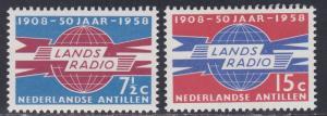 Netherlands Antilles # 258-259, Radio & Telegraph Administration 50th Anniv.