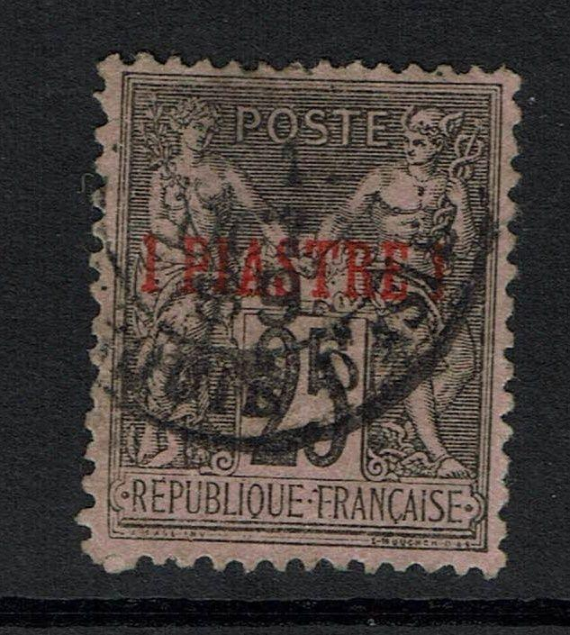 France Offices in Turkey SC# 1, Used, Top Thin - Lot 061117