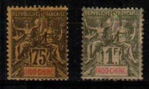 Indochina Scott 19-20 Mint hinged (Catalog Value $72.00) [TC841]