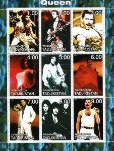 Tajikistan 2000 Freddie Mercury QUEEN Sheet Perforated Mint (NH)