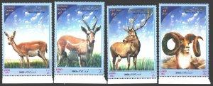 Iran. 2003. 2910-13. Mammals fauna. MNH.