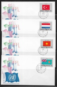 United Nations 325-40 1980 Flags Geneva Cachet FDC First Day Cover
