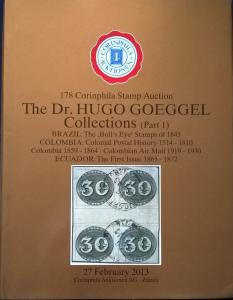 Auction catalogue BRAZIL BULL'S EYE COLOMBIA COVERS AIRMAIL ECUADOR 1865-72