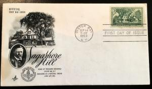 1023 Sagamore Hill, First Day Cover, Art Craft cachet, Vic's Stamp Stash