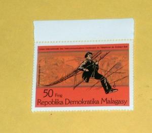 Madagascar - 554, MNH - Telephone Lines. SCV - $0.45