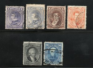 Argentina - Sc# 22 - 26 + 26a Used    -     Lot 0320064