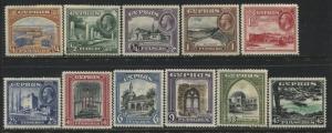 Cyprus KGV 1934 complete set mint o.g.